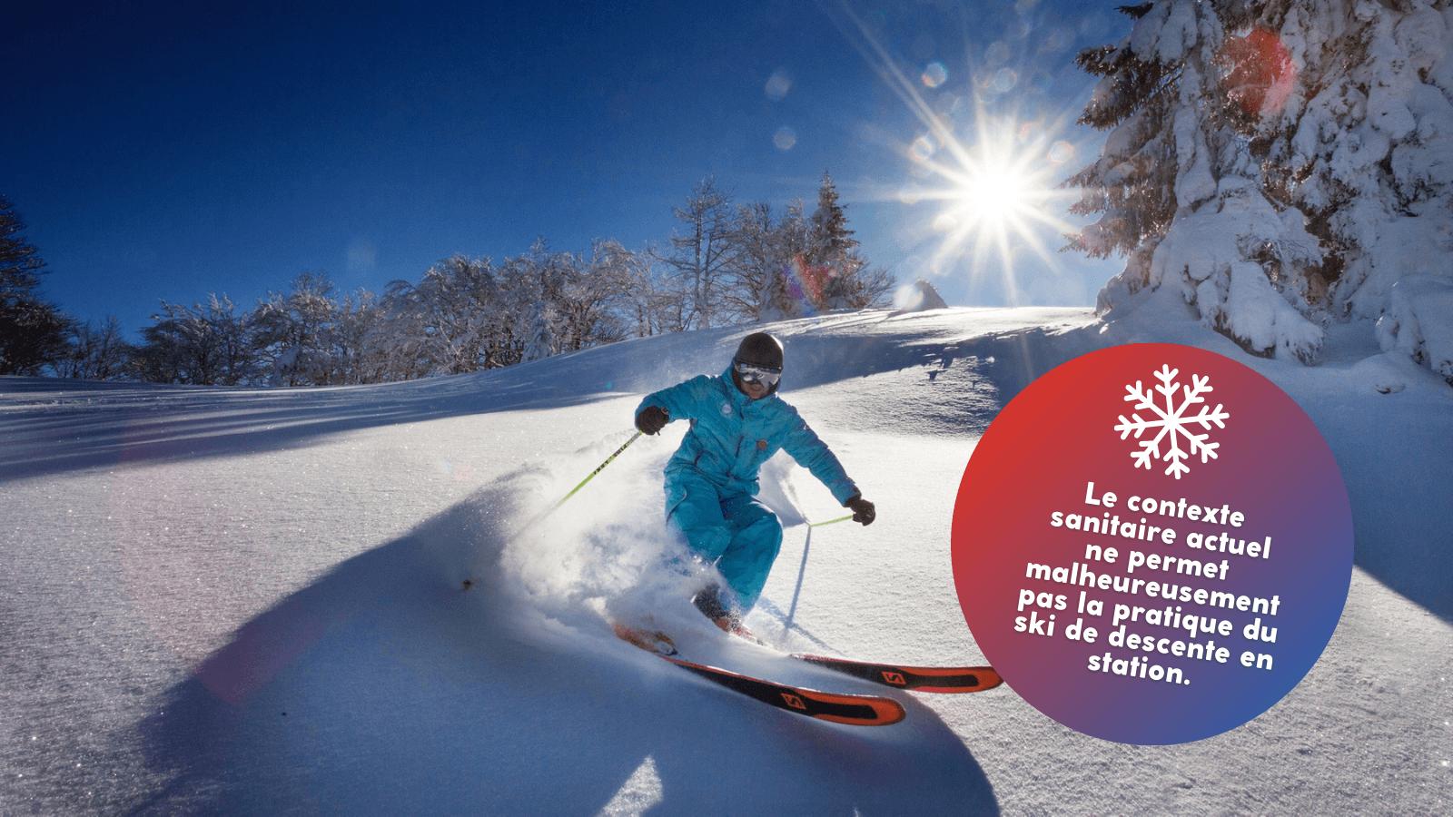 pas de ski alpin